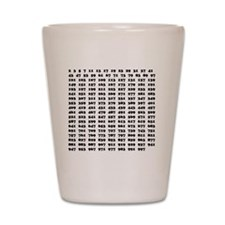 Prime Numbers list 01 copy Shot Glass
