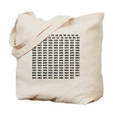 Prime Numbers list 01 copy Tote Bag