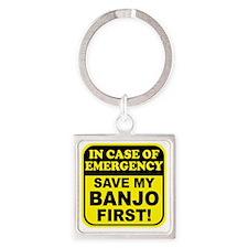 banjoEmergency Square Keychain