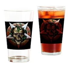 skull demon Drinking Glass