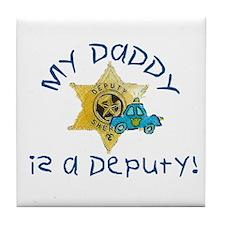 Funny Sheriff k9 Tile Coaster