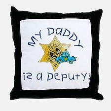 Cute Deputy sheriff Throw Pillow