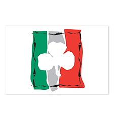 Shamrock Ireland Flag Edgy Postcards (Package of 8