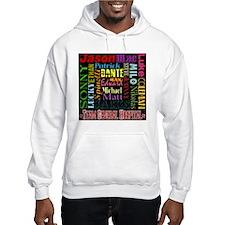GH guy names black copy Hooded Sweatshirt
