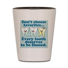 dontchoosefavoritesbutton Shot Glass