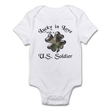 Lucky in Love U.S. Army Soldier Infant Bodysuit