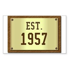 baby boomers novelty established 1957 Decal
