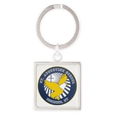 2-SAS logo round Square Keychain