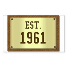 baby boomers novelty established 1961 Decal