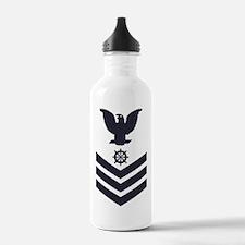 USCG-Rank-QM1-Blue-Cro Water Bottle