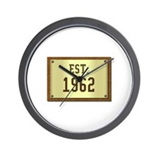 baby boomers novelty established 1962 Wall Clock