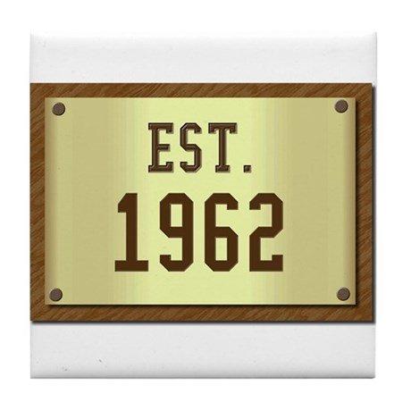 baby boomers novelty established 1962 Tile Coaster