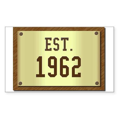 baby boomers novelty established 1962 Sticker (Rec