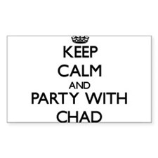 Keep Calm and Party with Chad Decal