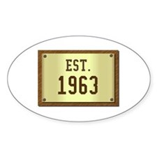 baby boomers novelty established 1963 Decal