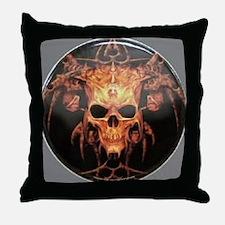 skull demon Throw Pillow
