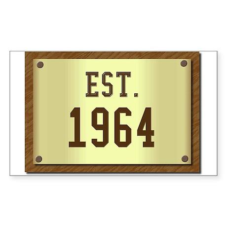 baby boomers novelty established 1964 Sticker (Rec
