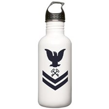 USCG-Rank-SK2-Blue-Cro Water Bottle