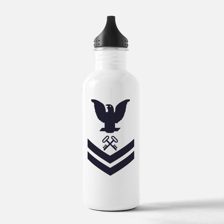 USCG-Rank-SK2-Blue-Cro Water Bottle