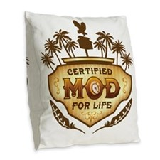 MOD_ForLife-01 Burlap Throw Pillow