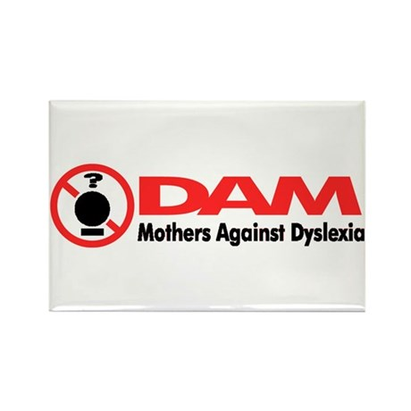 DAM (Mothers Against Dyslexia Rectangle Magnet