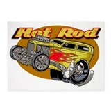 Hot rod 5x7 Rugs
