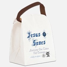 JesusSavesD20 Canvas Lunch Bag