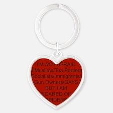 scaredofspiders Heart Keychain