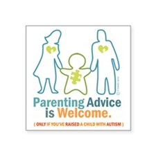 "Parenting DESIGN Square Sticker 3"" x 3"""