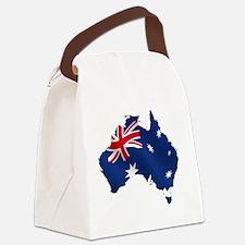 Australian Flag Map Canvas Lunch Bag