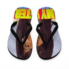 Rifqa Bary(framed panel print) Flip Flops