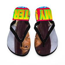 Rifqa Bary(large poster) Flip Flops