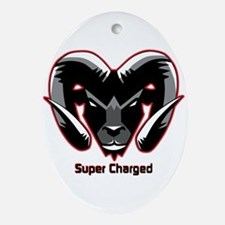 Super Charged Ram Style Mousepad Ornament (Oval)