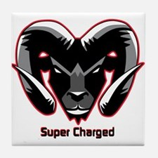 Super Charged Ram Style Mousepad Tile Coaster