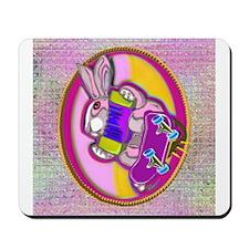 Skateboarding Bunny! Mousepad