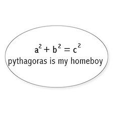 Pythagoras Oval Decal