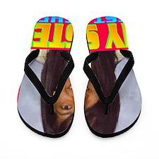 3-Rifqa Bary(square) Flip Flops