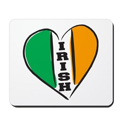 irish Heart Flag Lettering Mousepad