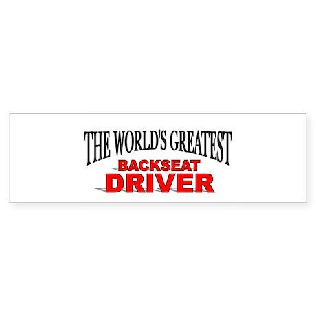 """The World's Greatest Backseat Driver"" Sticker (Bu"