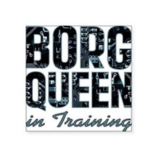 "star-trek_borg-queen-in-tra Square Sticker 3"" x 3"""