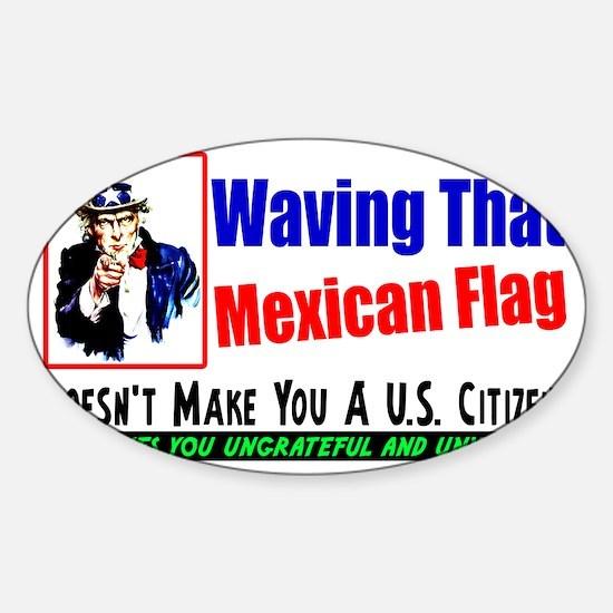 wavewhite Sticker (Oval)