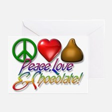Peace, Love & Chocolate Greeting Cards (Package of