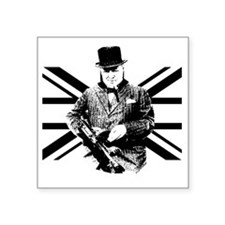 "Churchill Flag Square Sticker 3"" x 3"""