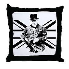 Churchill Flag Throw Pillow