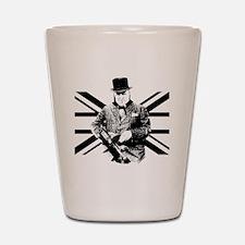 Churchill Flag Shot Glass