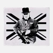 Churchill Flag Throw Blanket