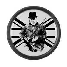 Churchill Flag Large Wall Clock