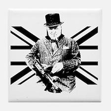 Churchill Flag Tile Coaster