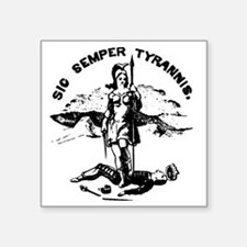 "TyrranisLightTee Square Sticker 3"" x 3"""