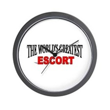 """The World's Greatest Escort"" Wall Clock"